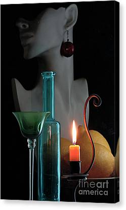 Canvas Print featuring the photograph Orange Candle by Elf Evans