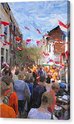 Orange Day Party Canvas Print by Martin  Fry