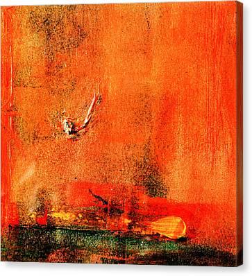 Canvas Print featuring the painting Orange Glow by Carolyn Repka