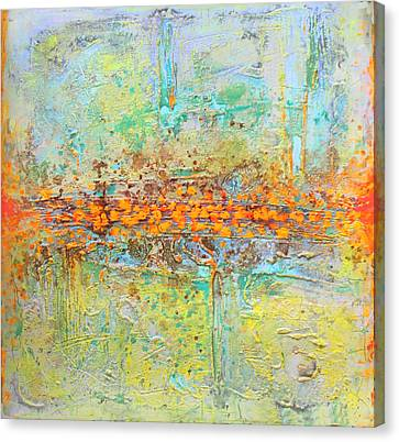 Canvas Print featuring the painting Orange Interference by Lolita Bronzini