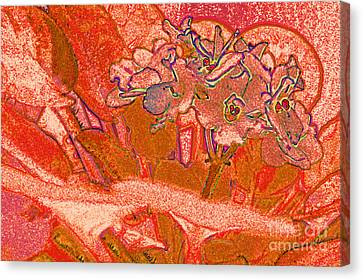 Orange Joy Canvas Print by First Star Art