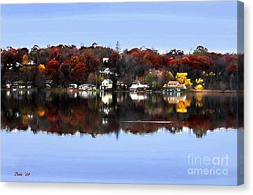 Orange Lake Canvas Print by Dale   Ford