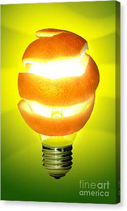 Orange Lamp Canvas Print by Carlos Caetano