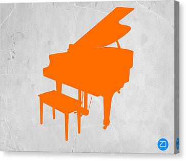 Orange Piano Canvas Print by Naxart Studio