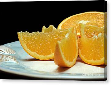 Orange Slices Canvas Print by Andee Design