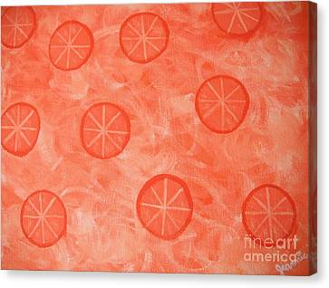 Orange Slices Canvas Print by Jeannie Atwater Jordan Allen