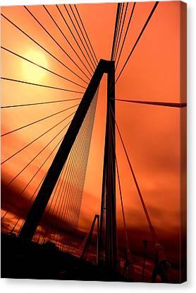 Orange Suspension Canvas Print by Sharon Farris