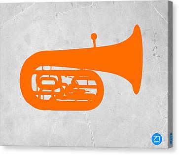 Orange Tuba Canvas Print by Naxart Studio