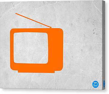 Orange Tv Vintage Canvas Print by Naxart Studio