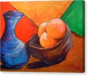 Oranges In A Bowl Canvas Print