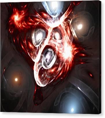 Orbit Explosion - A Fractal Design Canvas Print