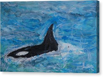 Orca Canvas Print by Iris Gill