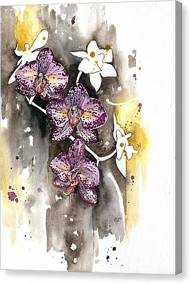 Canvas Print featuring the painting Orchid 13 Elena Yakubovich by Elena Yakubovich
