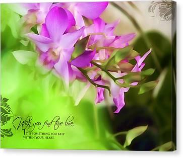 Orchid Art Canvas Print by Dumindu Shanaka