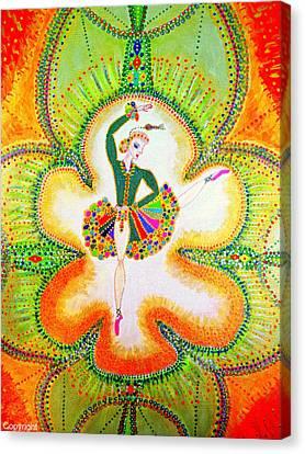 Orchid's Ballerina Canvas Print by Marie Schwarzer