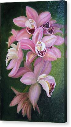 Canvas Print featuring the painting Orchids by Marlyn Boyd