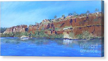 Ord River Afteroon Cruise Canvas Print by Nadine Kelly