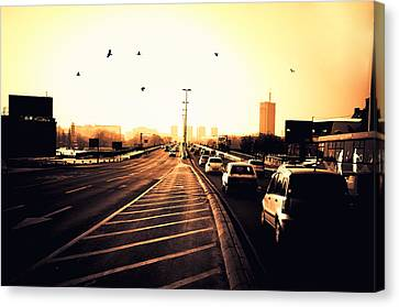 Ordinary Day Canvas Print by Uros Zunic