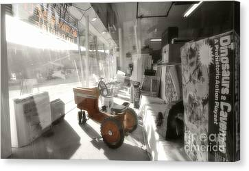 Oregon City Store Window Canvas Print by Kevin Felts
