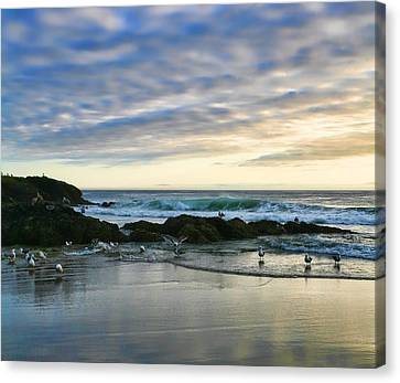 Oregon Coast At Dusk Canvas Print by Bonnie Bruno