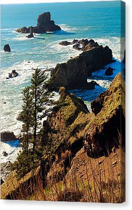 Canvas Print featuring the photograph Oregon Coast by Athena Mckinzie