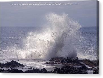 Oregon Coast Wave Canvas Print by Mick Anderson