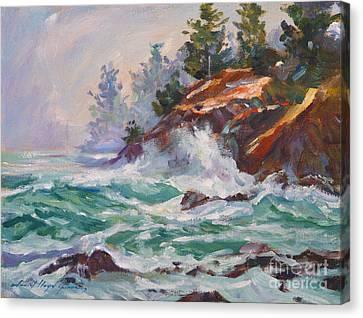 Oregon Coastal Mist Canvas Print by David Lloyd Glover