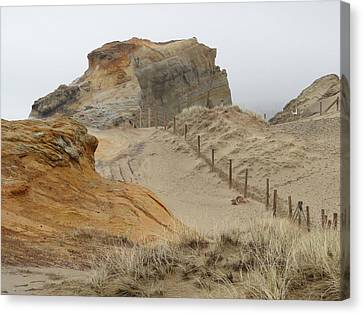 Canvas Print featuring the photograph Oregon Sand Dunes by Athena Mckinzie