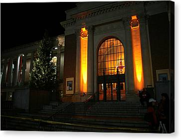 Oregon State Orange Lights At Memorial Union Canvas Print by Oregon State University