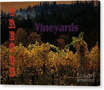 Canvas Print featuring the digital art Oregon Vineyards by Glenna McRae