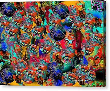 Oriental Fantasy Canvas Print by Oksana Linde
