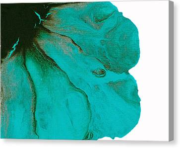 Original Aceo Flower Painting Tidal Canvas Print by Catherine Jeltes