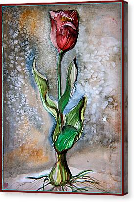 Original Watercolor Canvas Print by Mindy Newman