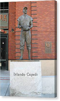 Orlando Cepeda At San Francisco Giants Att Park .7d7631 Canvas Print
