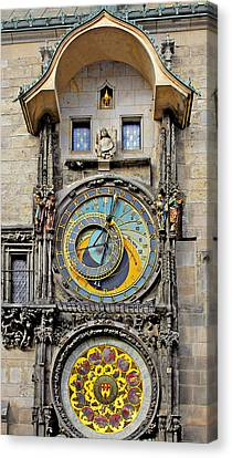 Orloj - Prague Astronomical Clock Canvas Print by Christine Till