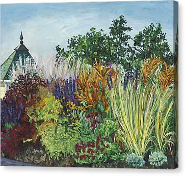 Ornamental Grasses In Longfellow Gardens Canvas Print by Christina Plichta