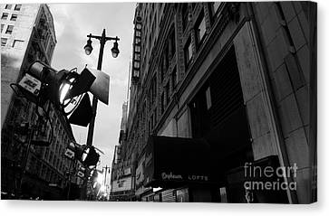 Canvas Print featuring the photograph Orpheum Theater by Nina Prommer