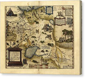 Ortelius's Map Of European Russia, 1570 Canvas Print by Library Of Congress, Geography And Map Division
