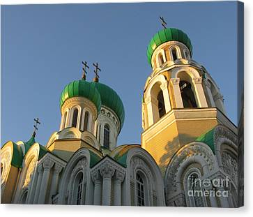 Orthodox Church Of Sts Michael And Constantine- Vilnius Lithuania Canvas Print by Ausra Huntington nee Paulauskaite
