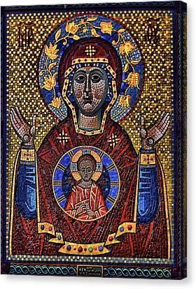 Orthodox Icon Of The Mosaic Canvas Print by Gennadiy Golovskoy