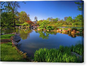 Osaka Garden Pond Canvas Print by Jonah  Anderson