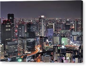 Osaka Nightscape Canvas Print by ***