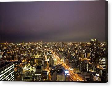 Osaka Skyline Canvas Print by Alex Barlow