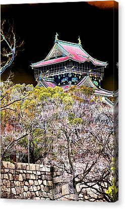 Osaka Temple Canvas Print by Allan Rothman