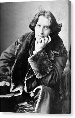 Oscar Wilde 1864-1900, Photograph Canvas Print by Everett
