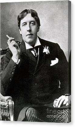 Oscar Wilde, Irish Author Canvas Print by Photo Researchers