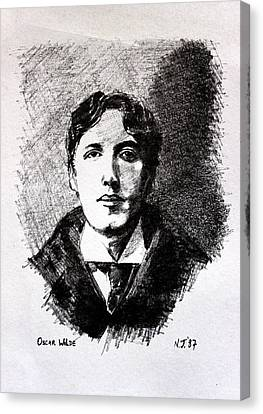 Oscar Wilde Canvas Print by John  Nolan
