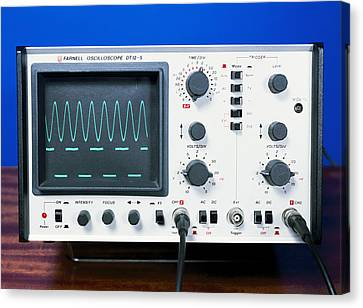 Oscilloscope Wave Forms Canvas Print by Andrew Lambert Photography