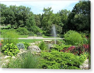 Oshawa Botanical Garden 3 Canvas Print by Sharon Steinhaus