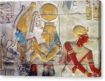 Osiris And Isis, Abydos Canvas Print